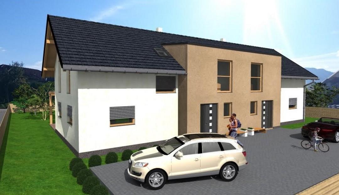 Gradnja dvostanovanjske hiše za trg – dvojček Šešče pri Preboldu
